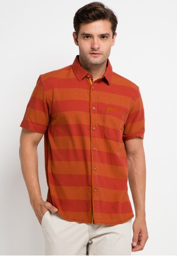 Watchout! Casual orange and multi Short Sleeve With Collar WA972AA0VFHNID_1