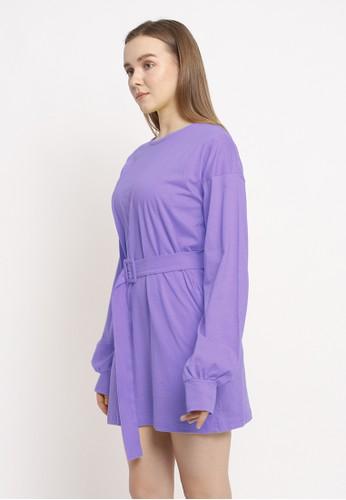 Modemaya lilac purple Ara Basic Dress E0383AA48CBE34GS_1
