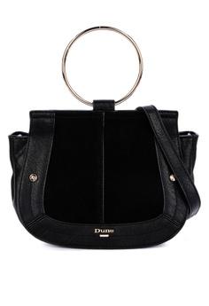 5c90381d1 Dune London black Diega Di Ring Handle Saddle Bag 8C95DAC29655DEGS_1