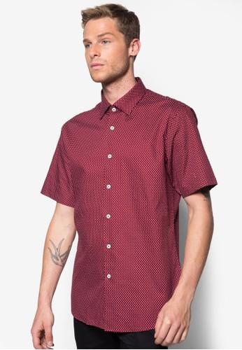 點點印花短袖襯衫, esprit 折扣服飾, 印花襯衫