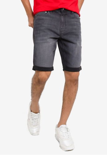 Hollister black Super Skinny Denim Shorts C885BAAABEC4A6GS_1