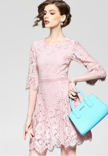 Sunnydaysweety pink Sweet Simple Dress CA032259PI SU443AA2VR3ZHK_1