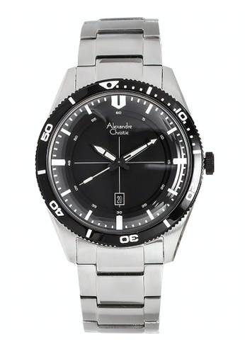 Alexandre Christie silver Alexandre Christie Jam Tangan Pria - Silver Black - Stainless Steel - 6459 MDBTBBA 835F3AC1A59739GS_1