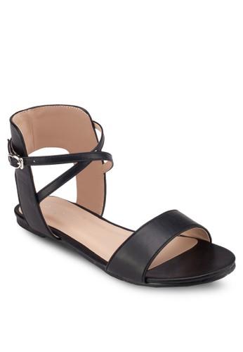 露跟踝帶zalora 心得平底涼鞋, 女鞋, 涼鞋