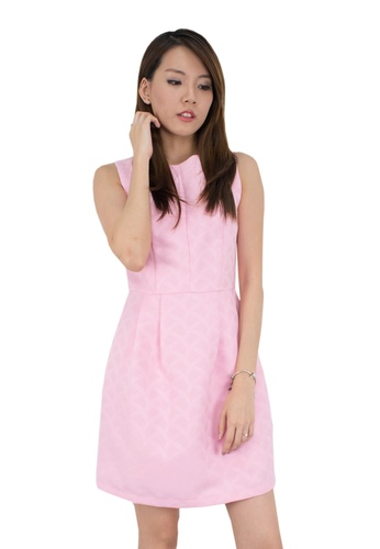 MOONRIVER pink Carrie Classic Fit And Flare Office Wear MO886AA05KBESG_1