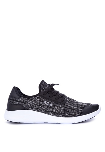 Fila black Equi Lite Running Shoes 80484SH76A87F2GS_1