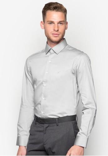 素色合esprit台灣網頁身長袖襯衫, 服飾, 襯衫