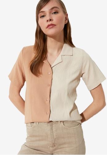 Trendyol multi Multi Color Block Shirt F1075AAD85AFA3GS_1
