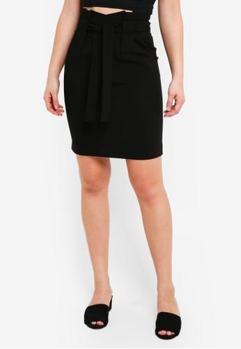 ICHI black Fabiu Skirt 883ADAAA79F317GS_1