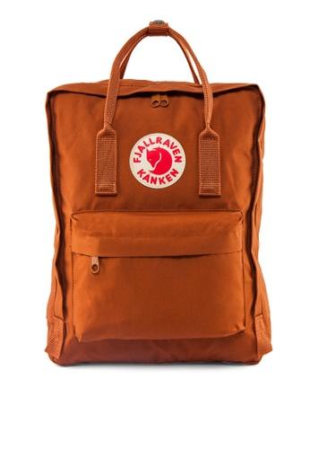 Fjallraven Kanken orange and brown Brick Kanken Classic Backpack FJ859AC16FPFSG_1
