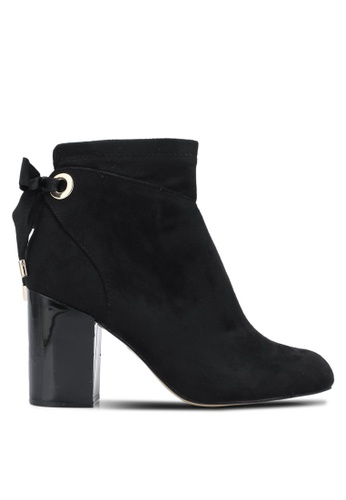 River Island black Tie Back Detail Boots RI009SH0SF6EMY_1
