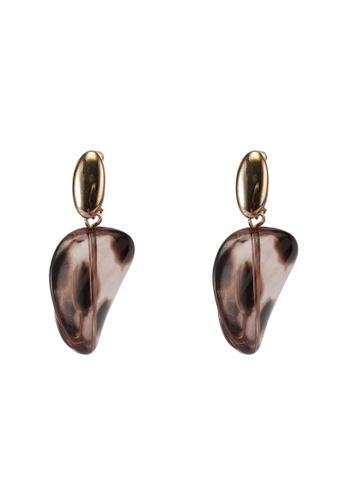 niko and ... brown Resin Earrings 56AC2AC8103965GS_1
