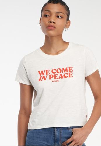 LEVI'S beige Levi's® Women's Graphic Surf T-Shirt 29674-0141 7A8B3AAC98BD25GS_1