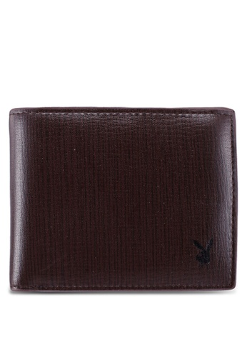 Playboy brown Rfid Blocking Bi-Fold Wallet DE31AAC79AD5C1GS_1