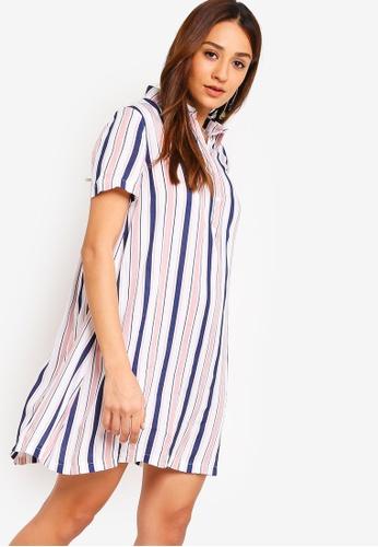 ZALORA pink and multi Shirt Dress 3BA19AA7C4247CGS_1