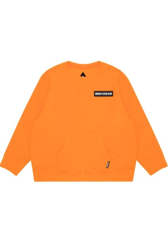Mini cream orange Logo fleece sweatshirt 78A7EAA183D5BBGS_1
