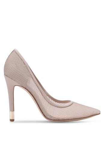 Guess beige Babbitt Perforated Heels GU020SH0S7L2MY_1