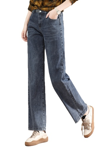 A-IN GIRLS navy Elastic Waist Flared Jeans 35443AABCC284AGS_1