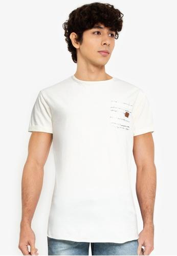 Indicode Jeans white Moran Pocket T-Shirt EADF2AAB37AF2FGS_1