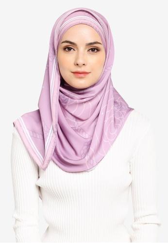 Qamelia Scarves purple Bella Silk Shawl 68DB0AA0F8A754GS_1