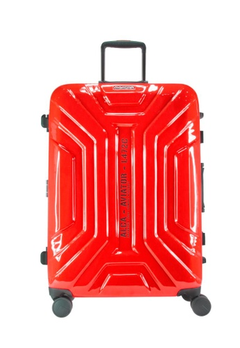 "Lushberry red Aviator Hardcase Luggage-26"" D76DAACA0321ECGS_1"