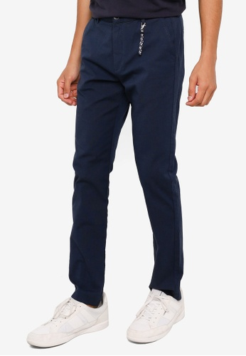 Springfield navy Textured Two Tone Chino Pants 97C97AAF78C512GS_1