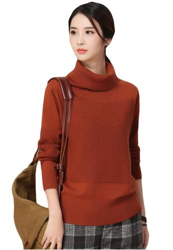 A In Girls Orange High Necked Warm Long Sleeved Sweater Ai732aa2w9x9hk_1