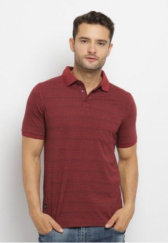 Arnett red Arnett Baju Pria Polo Shirt Stripe Maroon 03F58AA735297EGS_1
