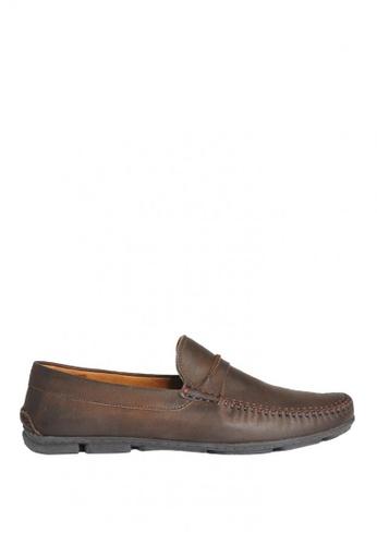 Sebago brown Hugo Venetian Driving Shoes SE328SH0K35YPH_1