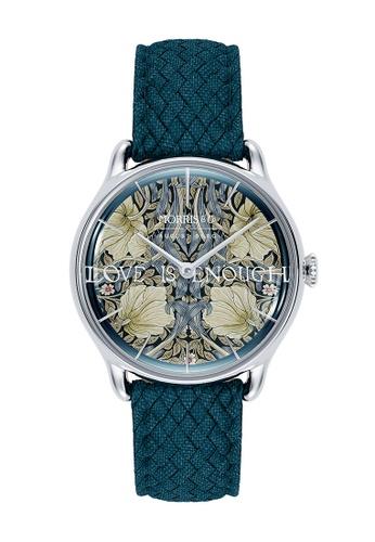 August Berg blue MORRIS & CO INDIGO Silver Pimpernel Indigo Perlon 30mm 700E0AC5068167GS_1