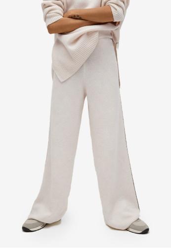 Mango beige Contrast Seam Trousers 6C13FAAEE09AB2GS_1