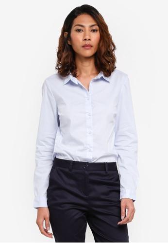 OVS blue Long Sleeves Blue Shirt 8D615AAC1776B9GS_1