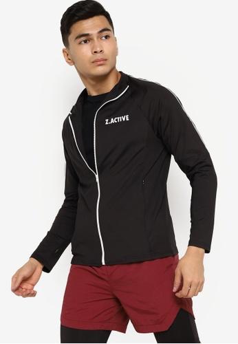 ZALORA ACTIVE black Active Workout Jacket A651DAA813EB1CGS_1