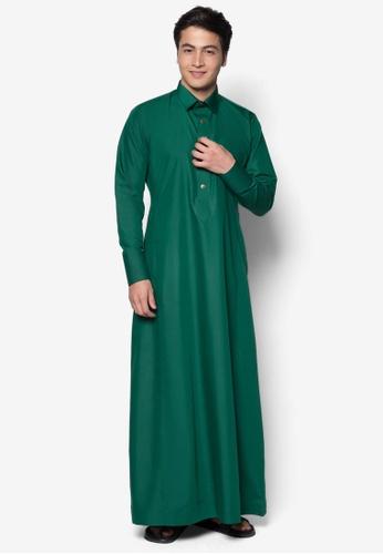 Amar Amran green Jubah A Daler Yusuf Edition Slim Fit (Emerald Green) 46326AA2864077GS_1