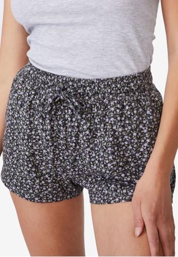 Cotton On Body black Jersey Sleep Shorts 051ECAA5D8C05EGS_1