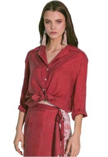 Akosée red Storge Shirt EC8A5AA0A70F76GS_1
