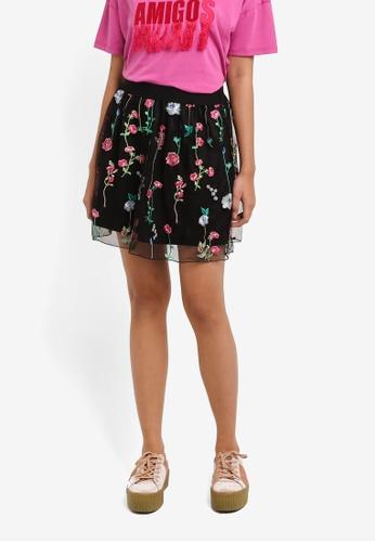 ONLY black Viva Tulle Skirt C7925AADE8AE91GS_1