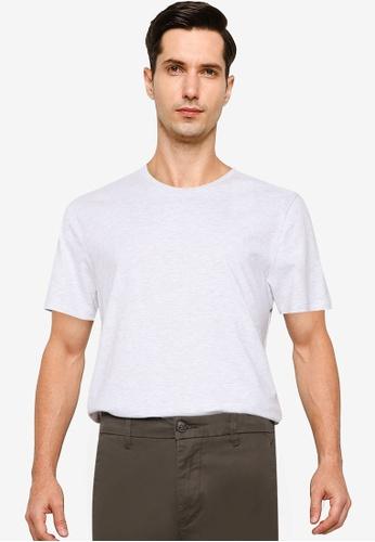 Burton Menswear London white Frost Crew Neck T-Shirt With Organic Cotton 0D469AAC9C047EGS_1