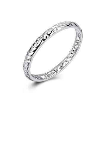 Glamorousky silver Elegant Fashion Cutout Bangle 9C6C9AC075F02EGS_1