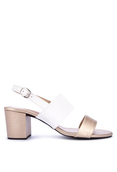 Mishka white Ivy Two Straps Heels Sandals 9B8AASHD805B88GS_1