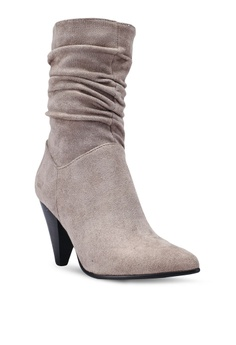 935dbb682 60% OFF Nose Leather Heel Calf Boots Php 3,899.00 NOW Php 1,559.00 Sizes 36 37  38 39 40