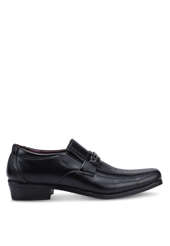 Rocklander black Metal Hardware Slip On Formal Shoes B2F5ESH5034075GS_1