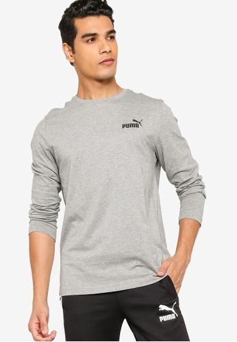 Puma grey Essentials Long Sleeve Men's Tee ABA45AA624ECDFGS_1