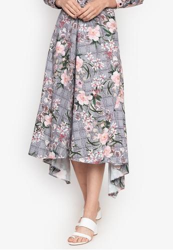ba3ab32efaa Shop Kamiseta Nesiafloral Asymmetric Floral Skirt Online on ZALORA  Philippines