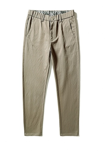 Twenty Eight Shoes 褐色 VANSA  簡約純色彈力休閒褲  VCM-P18820 C8D5CAABBE8231GS_1