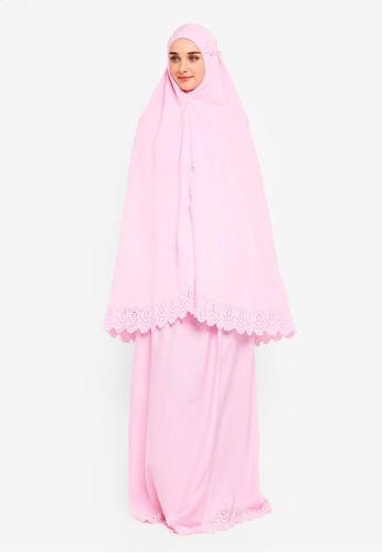 Najjah pink Colourcandy Pocket Telekung E51AFAAE7AB44BGS_1