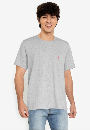 ZALORA BASICS grey Ace Pocket T-Shirt FFE03AABE8A211GS_1