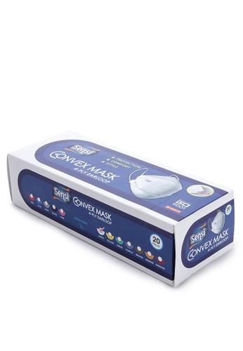 Sensi white Convex Mask 4-Ply Earloop 20 Pc 52061ES9079A69GS_1