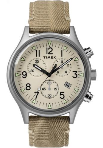 Timex MK1 SST Chrono 42mm SST Case Beige Dial Khaki Strap - TW2R68500 227C8ACD3A27FFGS_1