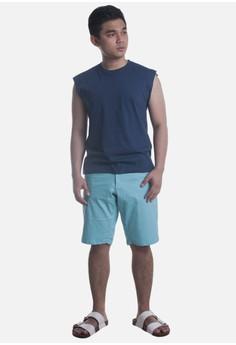 Men's Navy Blue, Muscle-Tee